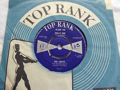 The Crests.     Molly Mae / Flower Of Love  -    Uk  Top Rank 150 (1959) • 1.99£