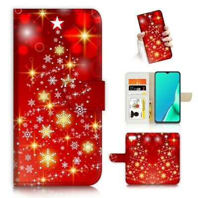 AU12.99 • Buy ( For IPhone 6 / 6S ) Wallet Flip Case Cover PB24187 Christmas Tree