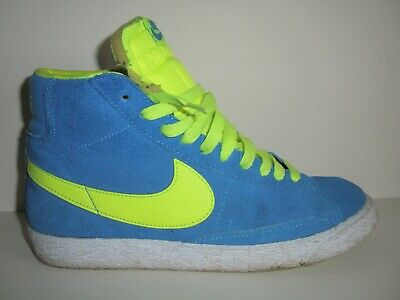 £9.99 • Buy Nike Blazers Blue/yellow Suede Leather Trainers Size 5 Unisex Mens/womens Boys