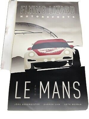 Le Mans 2010 Flying Lizards Team Poster Only Available At Race So Ltd Edition • 19.99£