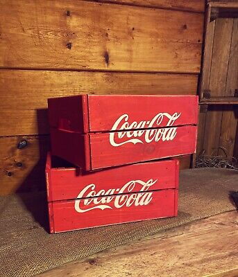 Rustic And Vintage Wooden Coke Cola Crate - Box Storage • 17.99£