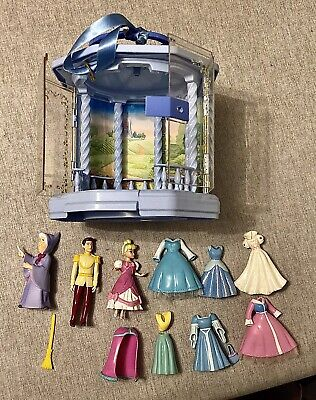Polly Pocket Disney Princess Cinderella Gazebo Carrycase And Rubber Clothes. • 10£