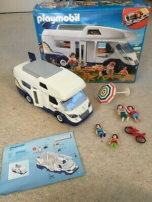 Playmobil Camper Van Boxed With Accessories 4859 Used • 9.99£