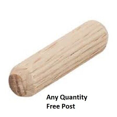 HARDWOOD DOWELS 8mm WOODEN CHAMFERED FLUTED PIN WOOD BEECHWOOD SUITS IKEA CHOOSE • 0.99£