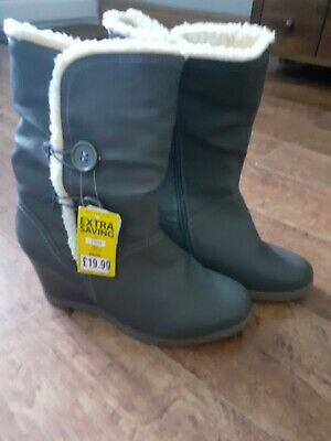 New Womens Pavers Wedge Boots Size 7 • 8£