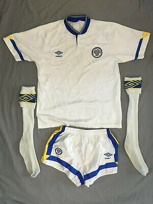 Vintage Leeds UTD1990-1992 FULL Home Kit, Size 38-40  IMMACULATE CONDITION • 85£