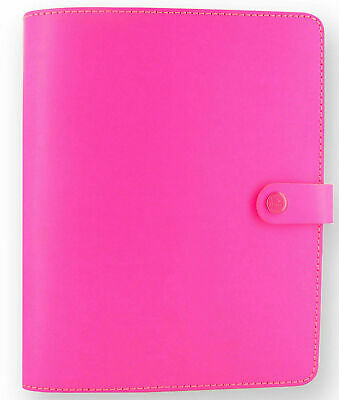 Filofax A5 The Original Fluoro Pink Crafted Genuine Leather & Extra Pages • 40£
