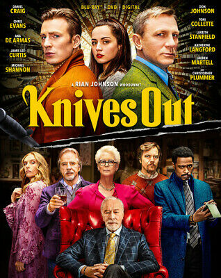 Knives Out   (2 Blu-Ray Disc Set, 2020)  Daniel Craig  Chris Evans   Brand NEW • 7.20£