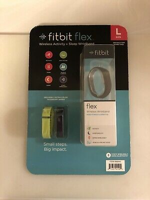 $ CDN96.02 • Buy FitBit Black Flex - Large With Extra Lime & Navy Bands Wrist FB401CPL New In Box