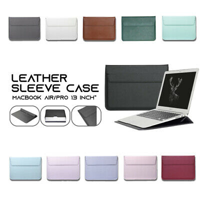AU18.95 • Buy Macbook Case Cover Bag Wallet Sleeve Leather Stand Air & Pro & Retina 13 Inch