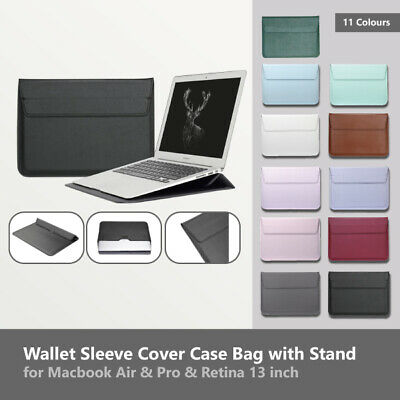 AU20.95 • Buy Macbook Case Cover Bag Wallet Sleeve Leather Stand Air & Pro & Retina 13 Inch