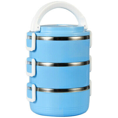 AU16.33 • Buy Lunch Box Bento Thermo Heated Food Stainless Steel Storage Container Insulated