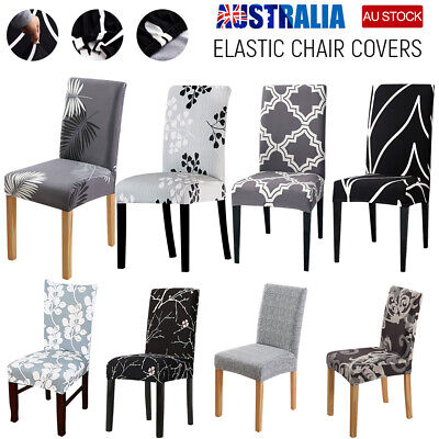 AU5.89 • Buy Dining Chair Covers Spandex Cover Stretch Washable Wedding Banquet Party Home