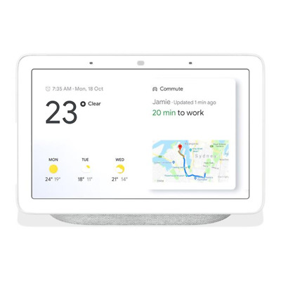 AU132 • Buy Google Home Nest Hub Smart Display & Home Assistant - Chalk - NEXT DAY SHIPPING!