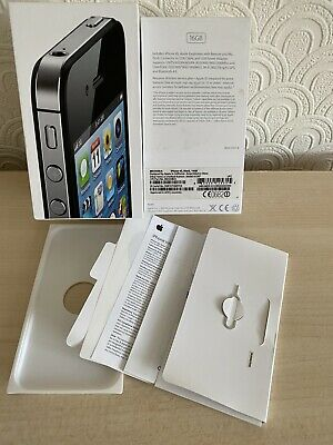 Genuine Apple IPhone 4S BOX ONLY (NO Accessories) 16gb, Black • 6.99£