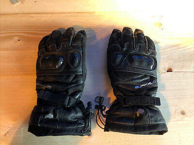 Leather Motorcycle Motorbike Scooter Waterproof Gloves Size XL • 2.50£