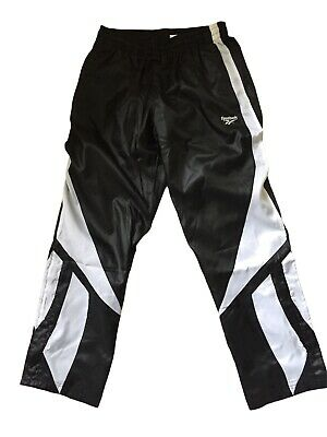 £99 • Buy REEBOK Dazzle Wet Look  Track Glanz  Nylon Pants Shiny L Chile Vtg Cal Surf