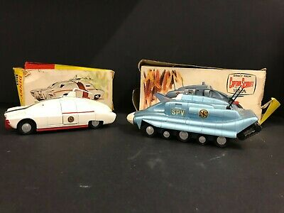 Vintage Dinky Captain Scarlet Models MSV & SPV, Good Condition With Tatty Boxes • 51£