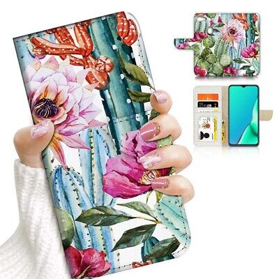 AU12.99 • Buy ( For Oppo A73 ) Flip Wallet Case Cover PB24139 Cactus