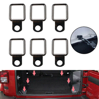 AU17.69 • Buy 6X Lashing D Ring Tie Downs Trailer Anchors Point For Jeep Wrangler Pickup Trunk