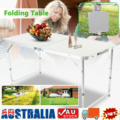 AU36.59 • Buy  Folding Aluminum Table Desk Portable Outdoor Garden Camping Dining Party BBQ AU