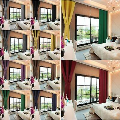 46 *72 Thermal Blackout Curtains Ready Made Eyelet Ring Top  + Tie Backs • 10.45£