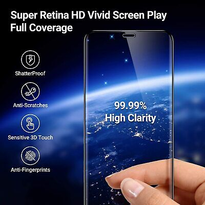 For IPhone 11 /Pro Max/XR/XS 9D Full Glass Cover Tempered Glass Screen Protector • 4.38£