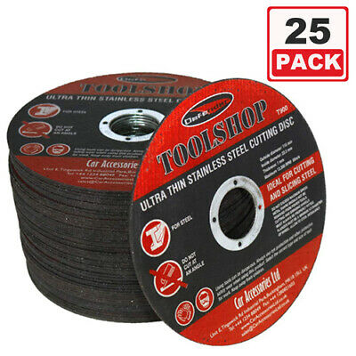 £10.99 • Buy 25pc 115mm 4.5  ULTRA THIN METAL CUTTING DISC 1/2  STEEL & STAINLESS  DEFENDER