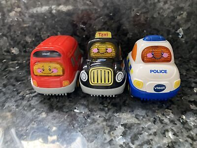 Vtech Toot Toot Cars Bundle Police, Bus And Taxi Working • 4£