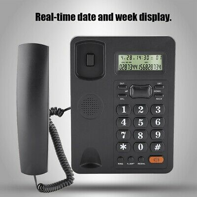Wired Home Office Caller ID Display Landline Fixed Telephone With Functio • 15.22£