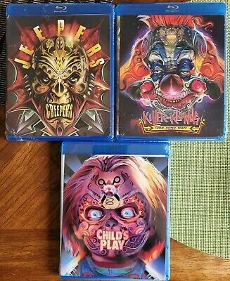 Jeepers Creepers KILLER KLOWNS Child's Play BLU RAY LOT Walmart Covers NEW MINT  • 14.31£