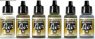 Vallejo Model Air Set WWII USMC Colors Green & Grey Patterns 1942-1945 • 16£