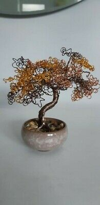 Wire Bonsai Tree Sculpture, New, Handcrafted • 15.99£