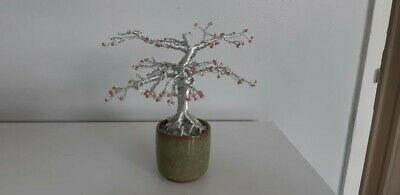 Wire Bonsai Tree Sculpture, New And Handcrafted • 15.99£