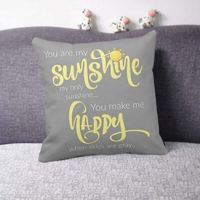 18''X18'' You Are My Sunshine Cotton Throw Pillow Case Decor Cover Home Cus F5X3 • 3.94£