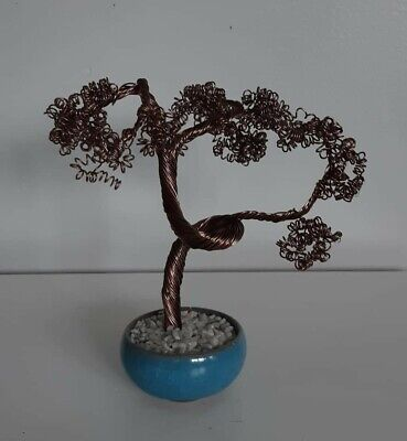 Wire Bonsai Tree Sculpture - New , Handcrafted • 15.99£