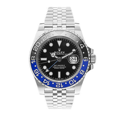 $ CDN22742.46 • Buy Rolex GMT Master II Steel Black Dial Batman Ceramic Bezel Watch 126710BLNR