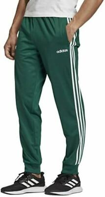 $54 • Buy New Men's Adidas Essentials Tricot 3 Stripes Track Pants ~ Large ~ #gh7925 Green