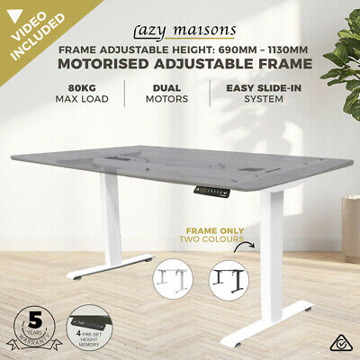 AU299 • Buy FRAME ONLY Motorised Height Adjustable Office Desk Dual Motor Electric Sit Stand