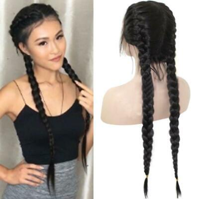 £11 • Buy Synthetic Braids Lace Front Wig Hair Long Black Double Nice Wigs Braided