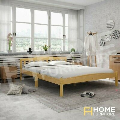 AU129.50 • Buy Double Bed Frame Base Mattress Platform Wooden Frame Bedroom Furniture Oak