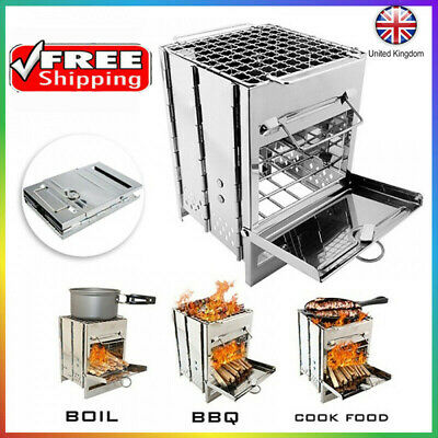Portable Camping Cooking BBQ Stove Picnic Cooker Backpacking Outdoor Equipment~ • 19.16£
