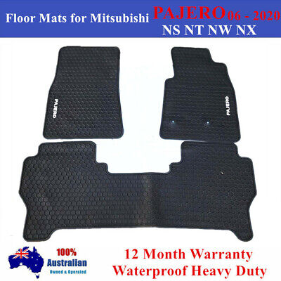 AU85 • Buy Heavy Rubber Floor Mats Tailored For Mitsubishi PAJERO NS NT NW NX 2006 - 2020