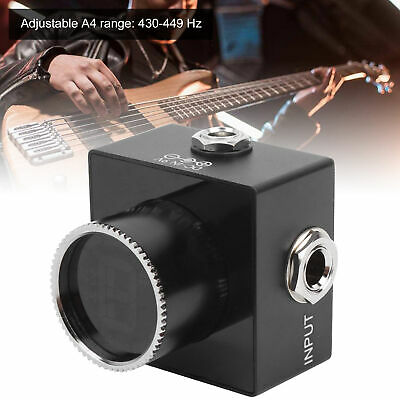 $ CDN38.43 • Buy Electric Guitar Pedal Tuner HD LED Display Adjustable A4 Range Value 430Hz-449Hz