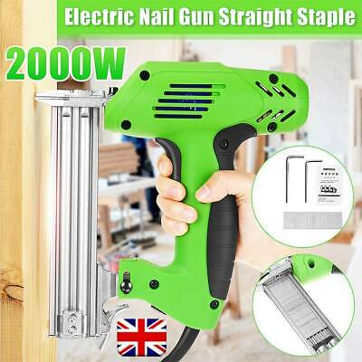 1800W Electric Straight Nail Gun 10-30mm Special Use 30/min Woodworking Tool UK • 50.99£