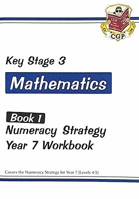 KS3 Maths Numeracy Strategy Workbook For Year 7 (Levels 4-5) By CGP Books  NEW • 1.75£