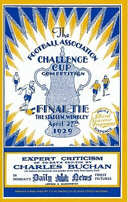 £4.99 • Buy FA CUP FINAL 1929 Portsmouth V Bolton Wanderers - FULL REPLICA PROGRAMME