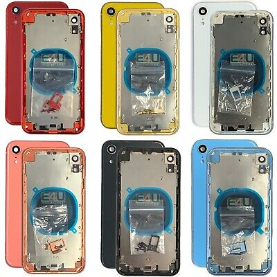 £19.95 • Buy For IPhone XR Housing Metal Frame Glass Back Chassis Cover Replacement