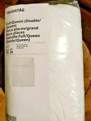 IKEA TRUBBTAG Duvet Cover Set WHITE ROMANCE TWIN FULL/QUEEN KING NEW WOW!! FREES • 47.17£