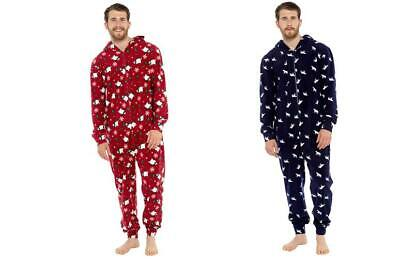 Mens Christmas Fleece 1Onesie Pyjamas Nightwear Lounge Wear Sizes S-XXL Free P&P • 18.99£